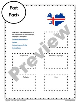 Iceland:  Worksheets, Maps, and Journaling Pages