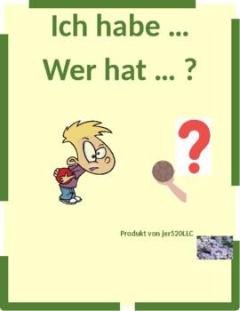 Hausarbeit (Chores in German) Ich habe Wer hat