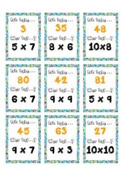 Ich habe Wer hat  Multiplication tables