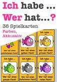 Ich habe, wer hat? Akkusativ Farben, colors, German speaking game, Deutsch