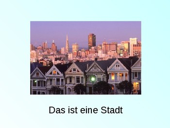 Ich wohne / Dorf / Stadt / Where I live / Details about where I live