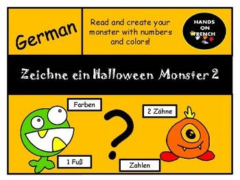 Ich zeichne mein Halloween Monster 2 (Zahlen und Farben)