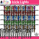 Icicle Lights Clip Art   Glitter Borders for Christmas & Winter Resources