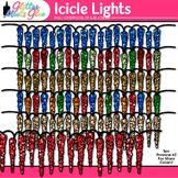 Icicle Lights Clip Art | Christmas Clipart Borders for Teachers