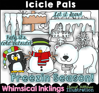 Icicle Pals Winter Clipart Collection