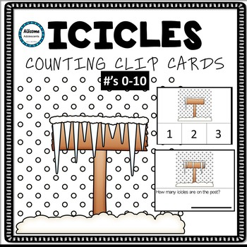 Icicles Counting Clip Cards
