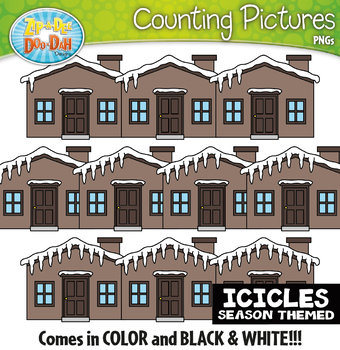 Icicles Counting Pictures Clipart {Zip-A-Dee-Doo-Dah Designs}