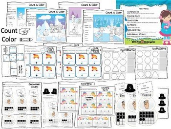 Icicles and Frozen Fun [A Kindergarten Math Activity Pack]