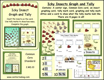 Icky Insects Graph and Tally (Skills needed for:2.MD.10)