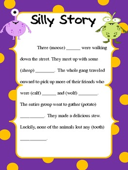 Icky Irregular Bundle- Past Tense and Plural Nouns