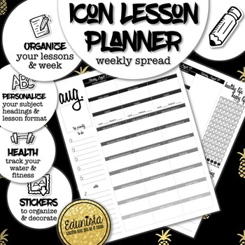 Icon Editable Lesson Planner