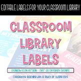 Icon Library Labels (EDITABLE) - Rainbow