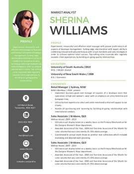 Icon photo modern resume template