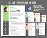 Icon photo modern resume template
