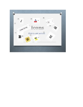 Icons - A PowerPoint introducing icons on Microsoft Word