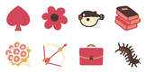 Icons and Emojis for Worksheets 100 beautiful vector image