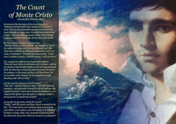 The Count of Monte Cristo - Icons of Literature Poster Series