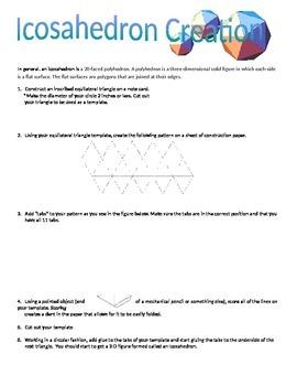 Icosahedron Project using Geometric Constructions