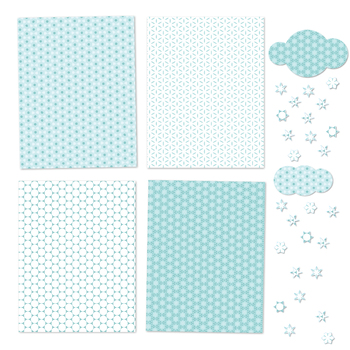 Icy Blue - 12 Digital Papers in White, Blue and Turquoise