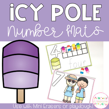 Icy Pole Playdough Number Mats