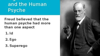 Id, Ego, and SuperEgo: Sigmund Freud PowerPoint