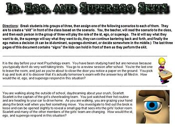 id ego and superego student skits by social studies superhero tpt. Black Bedroom Furniture Sets. Home Design Ideas