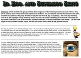 Id, Ego, and Superego Student Skits
