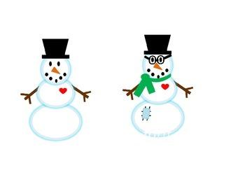 I'd Like to Build a Snowman Clip Art
