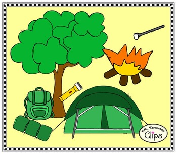 I'd rather be...Camping - Clip Art Collection
