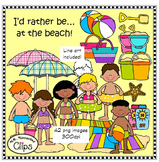 I'd rather be...at the beach! Clip Art Collection