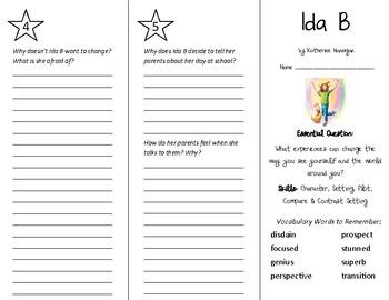 Ida B Trifold - Wonders 5th Grade Unit 5 Week 1