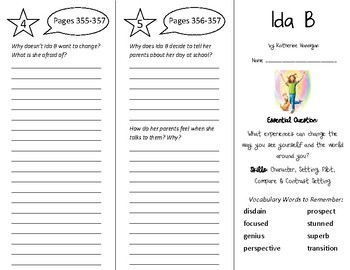 Ida B Trifold - Wonders 5th Grade Unit 5 Week 1