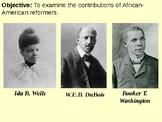 Ida B. Wells, Booker T. Washington and W.E.B. DuBois PPT