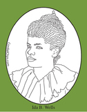 Ida B. Wells Clip Art, Coloring Page or Mini Poster