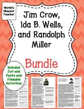 Ida B. Wells, Randolph Miller, Jim Crow Laws Bundle