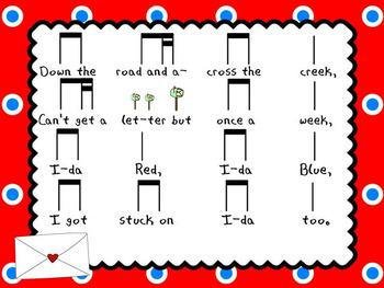 Ida Red: Slides for teaching tika-ti and singing games