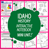 Idaho History–Interactive Notebook Idaho State Study Unit + AUDIO!
