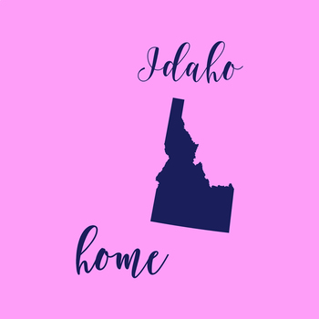Idaho Clipart, USA State Vector Clipart, Idaho Home, Gold US Clipart