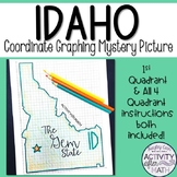 Idaho Coordinate Graphing Picture 1st Quadrant & ALL 4 Quadrants