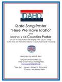 """Idaho History--""""Here We Have Idaho"""" & Idaho Counties Posters, flashcards"""