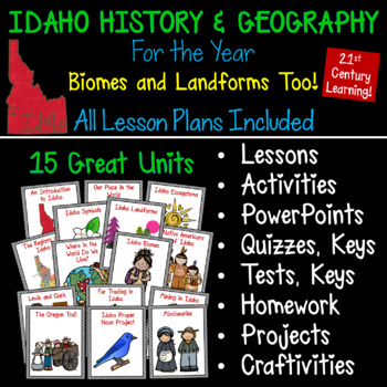 Idaho History and Geography for the YEAR! Growing Bundle!