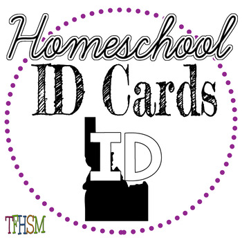 Idaho (ID) Homeschool ID Cards for Teachers and Students