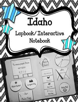 Idaho Lapbook/Interactive Notebook.  US State History.  Ge
