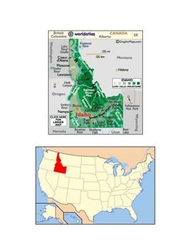 Idaho Map Scavenger Hunt