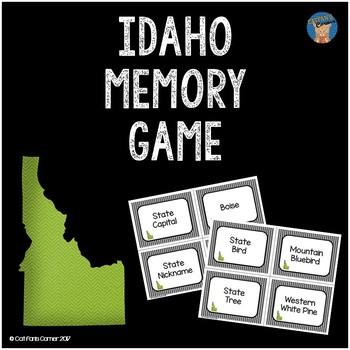 Idaho Memory Game