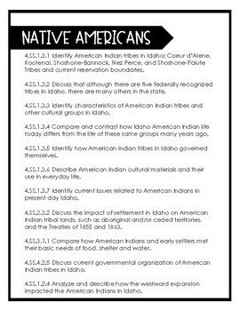 Idaho Native American Tribe Unit Plan