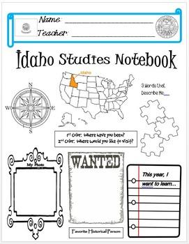 Idaho Notebook Cover