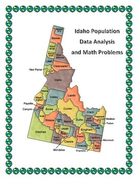 Idaho Data Analysis and Math Word Problems on the Population of Idaho