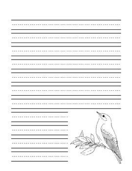 Idaho State Bird Notebooking Set (Mountain Bluebird)