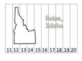 Idaho State Capitol Number Sequence Puzzle 11-20.  Geograp